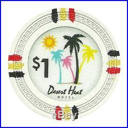 New Bulk Lot of 750 Desert Heat 13.5g Clay Poker Chips Pick Denominations