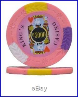 New Bulk Lot of 750 Kings Casino 14g Clay Poker Chips Pick Denominations