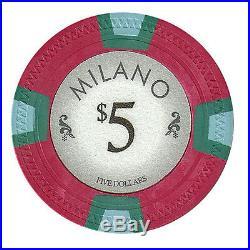 New Bulk Lot of 750 Milano 10g Clay Poker Chips Pick Denominations