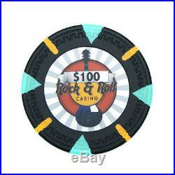 New Bulk Lot of 750 Rock & Roll 13.5g Clay Poker Chips Pick Denominations