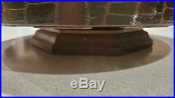 Over 200 VERY RARE Hunting & Fishing Clay Chips with Vintage Leather Poker Caddy