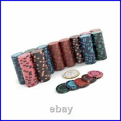 Poker case Corrado Deluxe poker set with 300 clay poker chips without values