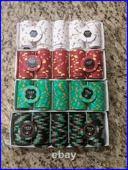 Private Listing Mixed Denom Jack Cincinnati 500 Real Paulson Clay Poker Chips