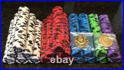 RARE New Regal Knight 11.5 Gram Clay Composite Poker Chips (1,000 Chips) NICE