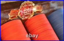 RARE Poker chips case TR King / PAULSON 300 clay chips Jeton Casino TRK Nevada