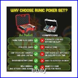 RUNIC Exclusive Poker Set 300 pcs, 14 Gram Clay Poker Chips for Texas Holdem