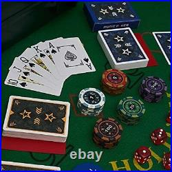 RUNIC Exclusive Poker Set 300 pcs 14 Gram Clay Poker Chips for Texas Holdem B