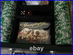 Rare D. S. Yuengling & Son Pottsville, PA Poker Set in Case Unused Clay Chips