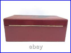 Red Lacquer Box Clay Poker Chips Chinese Box Container Cards Stop Monkeying CFB