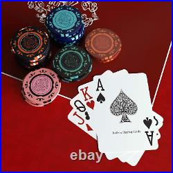 S Playing Cards Designer Poker Case Corrado Deluxe Poker Set With 500 Clay P