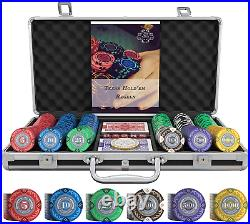 S Playing Cards Designer Poker Case Tony Deluxe Poker Set With 300 Clay Poke