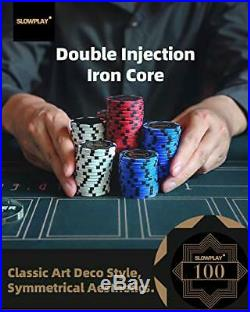 SLOWPLAY Nash 14 Gram Clay Poker Chips Set for Texas Holdem, 300 300 Chips