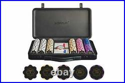 SLOWPLAY Nash 14 Gram Clay Poker Chips Set for Texas Holdem 300 PCS with Num