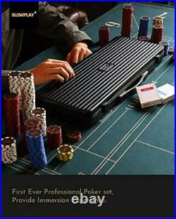 SLOWPLAY Nash 14 Gram Clay Poker Chips Set for Texas Holdem, 500 PCS Blank