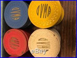 Set Of 100 Antique Oakley Veterans Memorial Assc. Clay Poker Chips, Kansas. 1930
