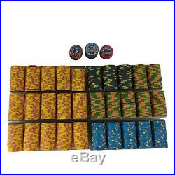 Set of over 600 Minty Paulson Flag Series Poker Casino Chips Real Clay Countries
