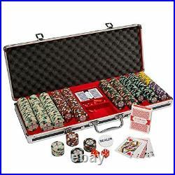 Showdown Poker Chips Set 500 Heavyweight 13.5-Gram Clay Composite Chips Pla