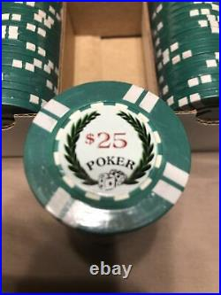 Sidepot BCC Protege Clay Poker Chips 100/$25 New Sealed