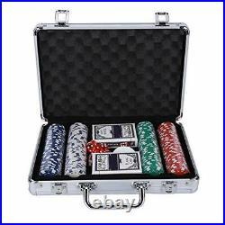 Texas Hold'em Clay Poker Chip Set, 200PCS Poker Chips Game Set with