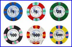 Unicorn All Clay Poker Chip Set with 500 Authentic Casino Weighted 8.5 Gram