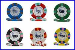 Unicorn All Clay Poker Chip Set with 500 Authentic Casino Weighted 8.5 Gram Chi