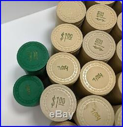 Vintage Casino Chips 866 Real Clay by George & Co. Poker Tiny Hotstamp Antique