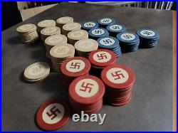 Vintage Clay NOT Swastika Poker Chips