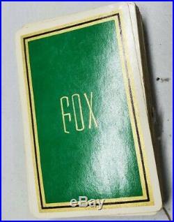 Vintage Fleur De Lis 250 Poker Chips Card Caddy Clay Paper Bakelite