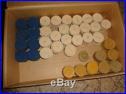 Vintage Lot of 375 Flamingo Clay Poker Chips
