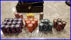 WTHC Paulson Top Hat And Cane Clay Poker Chips set in case