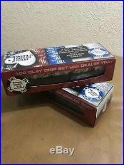 World Poker Tour 100 11.5g Clay Filled With Black Dealer Tray